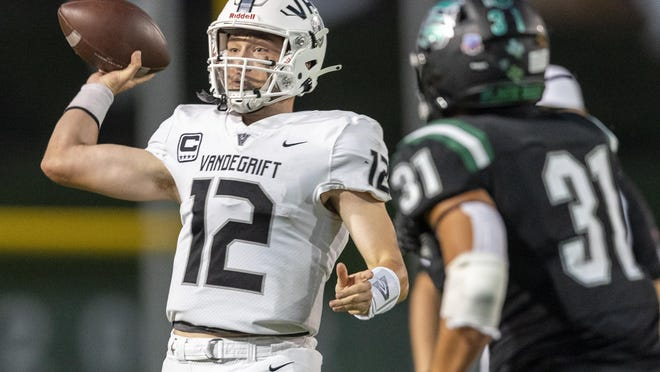 Vandegrift quarterback Ryan Back completed 20 of 21 passes for 228 yards and three touchdowns to lead the Vipers offense in a 38-7 win over Westwood.