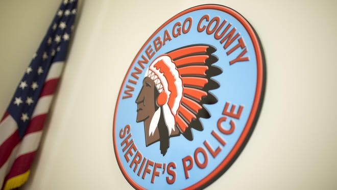 A logo of the Winnebago County Sheriff's Police is on display on Tuesday, Dec. 11, 2018, at Winnebago County 911 Center in Rockford.