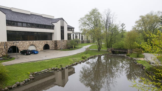 Normally around midday sees the walkways filled with students walking to classes at Rock Valley College. But due to closures because of health concerns of COVID-19 there are no students or faculty on campus on Thursday, May 14, 2020, in Rockford.