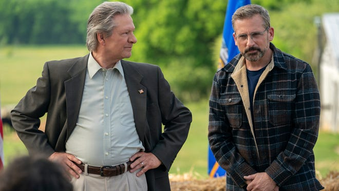 """In this image, Chris Cooper, left, and Steve Carell appear in a scene from """"Irresistible."""""""