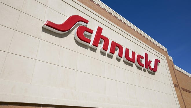 The Schnucks supermarket at 2642 Charles St., Rockford, shown above on March 10, 2020, is one of three local Schnucks stores that now have CVS  pharmacies inside.