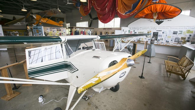 The museum's exhibits inside the Waukesha Hangar at Vintage Wheels & Wings Museum in Poplar Grove.