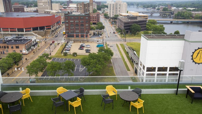 The 13-story Embassy Suites by Hilton Rockford Riverfront, 416 S. Main St., opened on July 1 as hotel and hospitality industry struggled because of the ongoing coronavirus pandemic. In June, local hotel revenue was nearly cut in half.