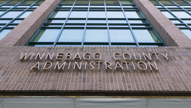 The Winnebago County Administration building in Rockford.
