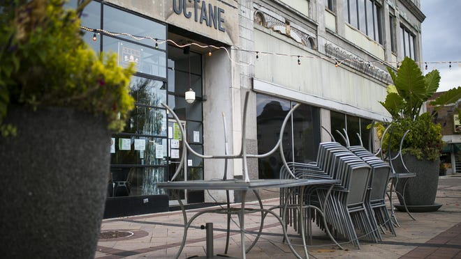 """The state will impose new coronavirus restrictions, including prohibiting indoor dining, after an increase in COVID-19 cases. """"I'm a little peeved right now,"""" Patrick Alberto, owner and chef of Octane bar and restaurant in downtown Rockford, said Tuesday afternoon. """"Curbside is not as busy as people think it is. We're going to take another hit. That's it. Plus, it's winter."""""""
