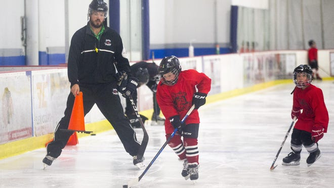 A coalition of community leaders has formed to push back against a Rockford Park District proposal to consolidate ice facilities and close the Riverview Ice house. Save Riverview Ice House includes downtown boosters, aldermen, business owners, and ice hockey and skating enthusiasts. In this Sept. 22 photo, members of the Junior IceHogs practice at the Ice House.