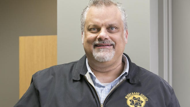 Winnebago County Coroner Bill Hintz, pictured in March, was indicted by a Winnebago County grand jury this week on forgery and misconduct charges.