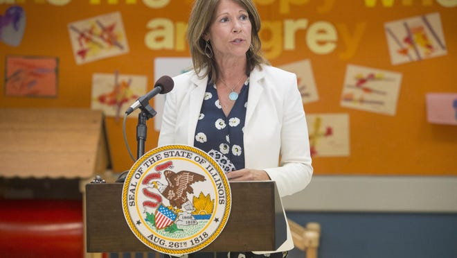 U.S. Rep. Cheri Bustos, D-Moline, says she is proud of her record in Congress and will not seek a sixth term after winning election in five straight congressional contests. In this file photo, Bustos speaks at the YMCA Children's Learning Center on June 10 in Rockford.
