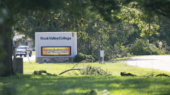 Rock Valley College sustained an estimated $500,000 or more in damages in Monday's tornado, college officials say.