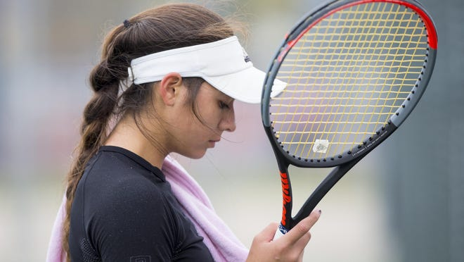Auburn's Belen Nevenhoven, shown during her 2019 state title match where she finished second, was picked as the greatest girls tennis player in Rockford-area history.
