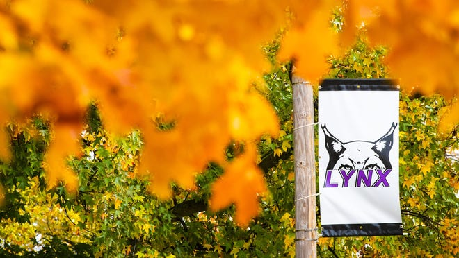 Fall colors shine bright on the campus of Lincoln College. The college will transition to online classes due to the increased cases of COVID-19 virus.