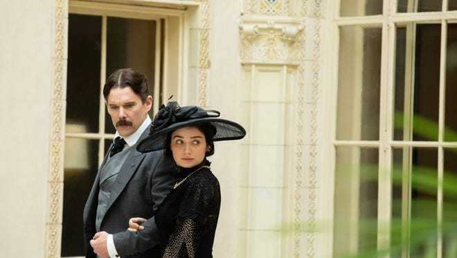 Nikola Tesla (Ethan Hawke) and Anne Morgan (Eve Hewson) aren't sure if opposites attract.