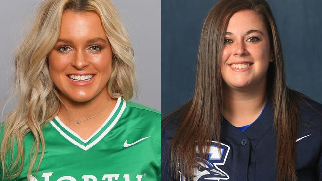 Kenzie Young (left) and Morgan Bohanan (right) both will be new assistant coaches for the Grizzlies softball team in the spring.