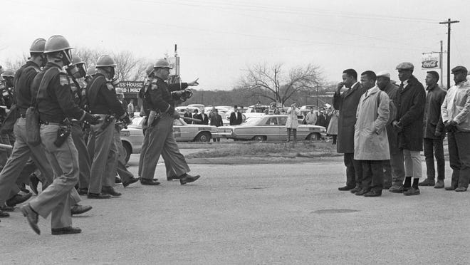 "Protestors and police officers on Bloody Sunday in ""John Lewis: Good Trouble;  streaming Friday at athenscine.com."