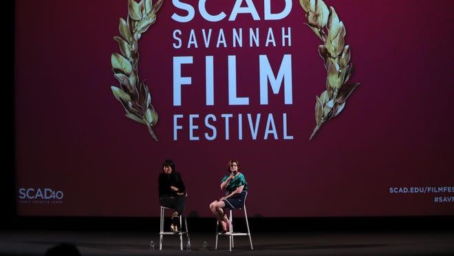 SAVANNAH, GA - OCTOBER 29:  Director Christina Choe speaks onstage during the 'Nancy' Q&A at the 21st SCAD Savannah Film Festival on October 29, 2018 in Savannah, Georgia.