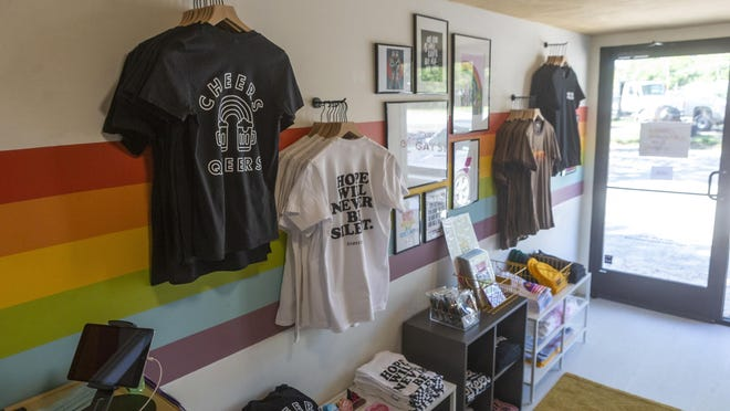 The Little Gay Shop at 828 Airport Blvd. supports LGBTQ creativity, with stock including works from local artists.