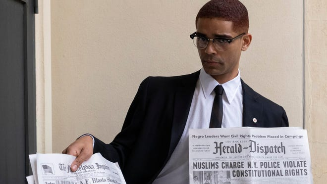 "Kingsley Ben-Adir as Malcolm X in a scene from ""One Night in Miami."""