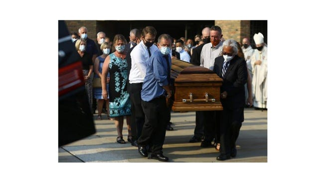 More than 300 people attended the funeral for Father Stephen Rooney at St. Frances Cabrini Catholic Church in Allen Park Wednesday.
