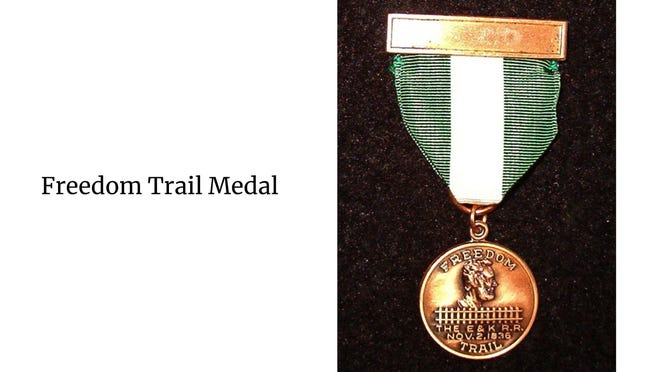 The Freedom Trail Medal.