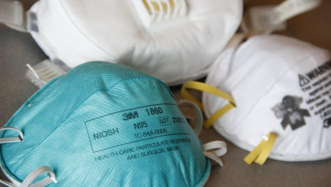 Hospitals across the state have varying levels of personal protective equipment on hand, including N95 masks.