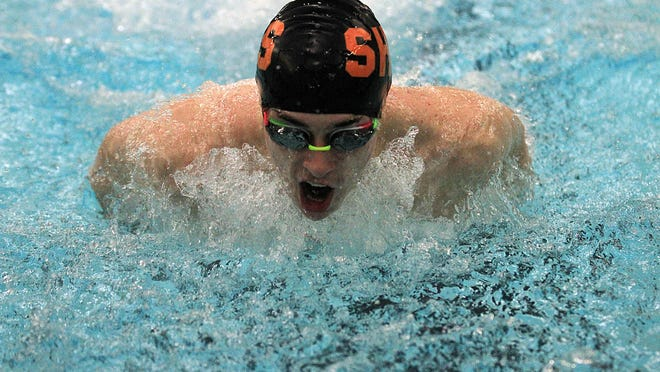 Charles Frost of Sturgis won the 200 individual medley race on Thursday evening.