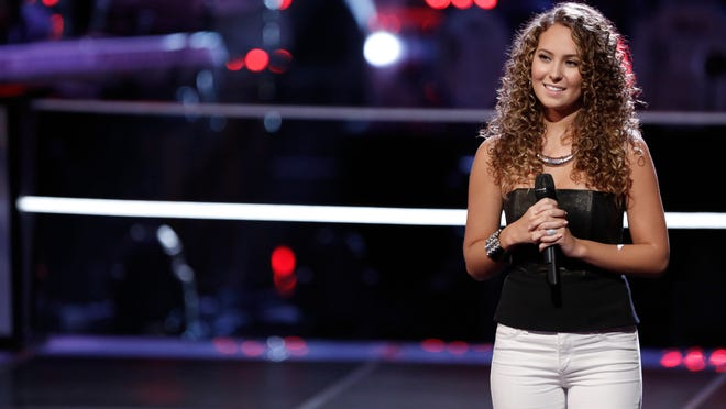 "Alessandra Castronovo of Millstone Township during the battle ronud of NBC's ""The Voice"""