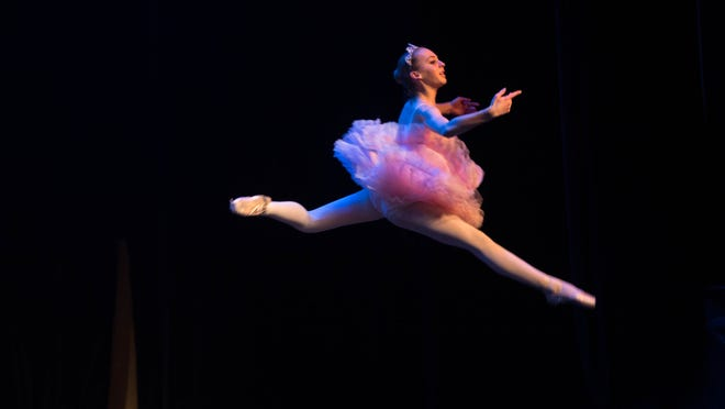 Dancers from Ballet Des Moines perform March 28 during the Junior League Follies, Capital City Celebrities at Hoyt Sherman Place in Des Moines.