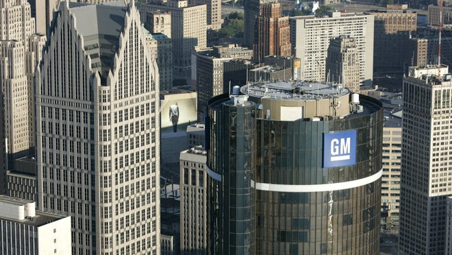 General Motors headquarters in the Renaissance Center in Detroit.