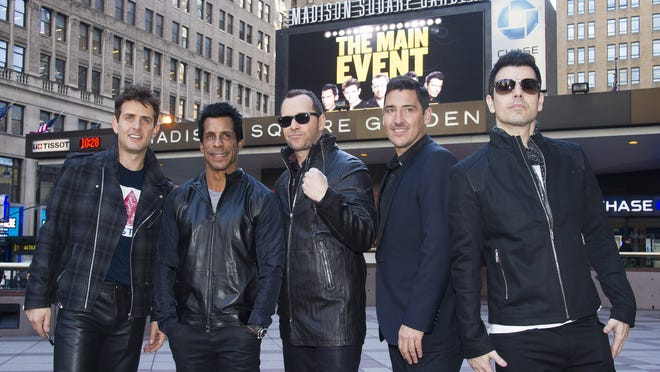 New Kids Kids on the Block, from left: Joey McIntyre, Danny Wood, Donnie Wahlberg, Jonathan Knight and Jordan Knight.