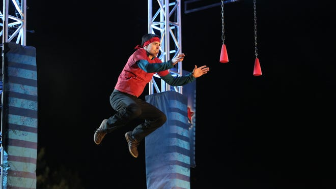 'American Ninja Warrior' finalist Ian Dory is pictured on the show.