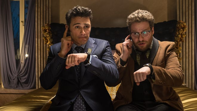 """The first four days of online sales and rentals for """"The Interview,"""" starring James Franco, left, and Seth Rogen, took in more than five times its box-office tally."""