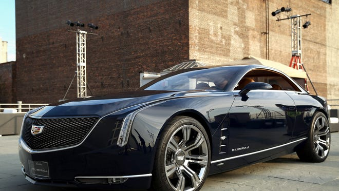 Cadillac introduced its Elmiraj concept, a four-seat rear-wheel drive grand coupe, last August in New York.