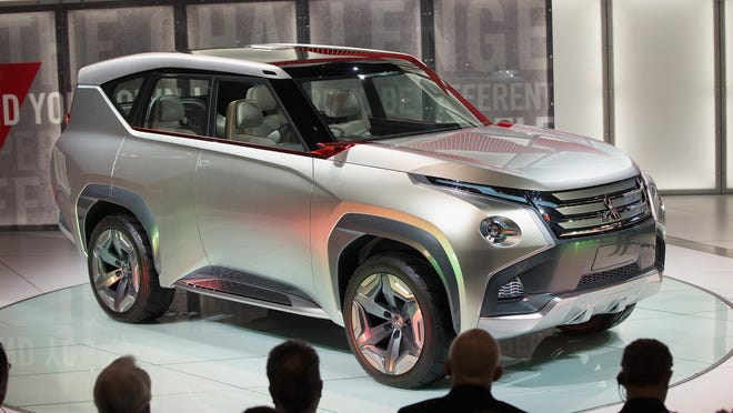 Mitsubishi introduces the GC-phev concept at the Chicago Auto Show Feb. 12, 2015.