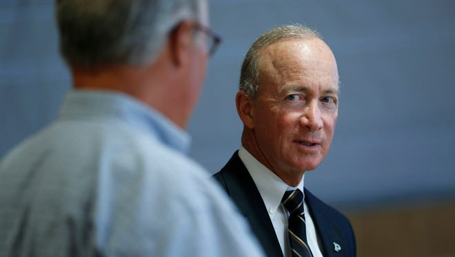 Purdue President Mitch Daniels said he has confidence that faculty members can come up with a way to measure student growth in critical thinking. He and university trustees want Purdue to start tracking that in a standardized way in fall 2015. Faculty members have recommended holding off until fall 2016.