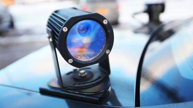 An automatic license plate reader.