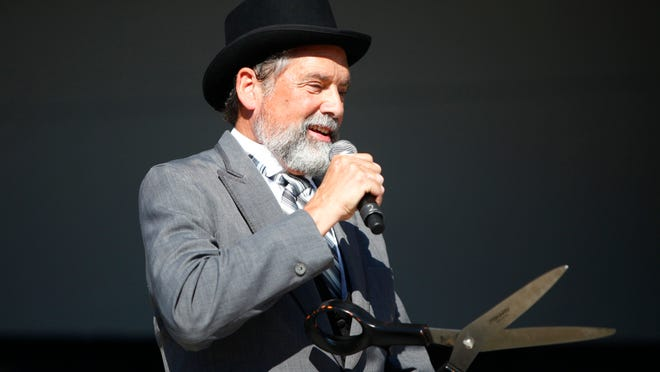 Former Perinton Supervisor Jim Smith — dressed as Cyrus Packard, the first Perinton supervisor — at the town's bicentennial event in 2012.