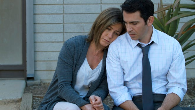"""Jennifer Aniston and Chris Messina are shown in a scene from """"Cake."""""""