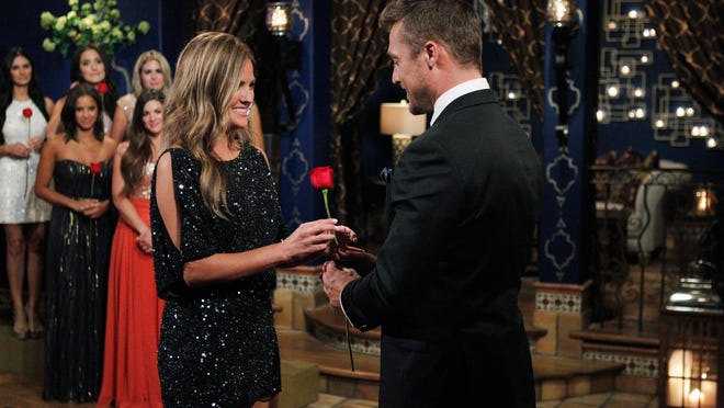 """Former Shreveporter Becca Tilley receives a rose from Chris Soules on the first episode of season 19 of """"The Bachelor."""" """"The show airs 7 p.m. Mondays on the ABC Television Network."""