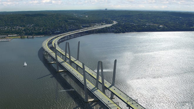 A rendering of the new Tappan Zee Bridge, for which the state plans to borrow $922 million in 2015.