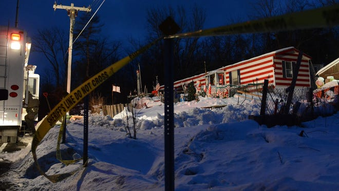 A home on Thatcher Park Road in the town of Berne where police say 5-year-old Kenneth White was abducted by two masked men, setting off an Amber Alert, on Thursday, Dec. 18, 2014.