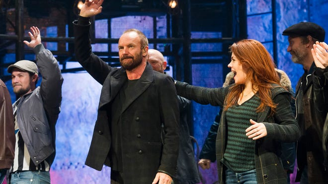"Sting appears at the curtain call Dec. 9 following his debut performance in Broadway's ""The Last Ship"" in New York. Producers said Tuesday that ""The Last Ship"" will close when Grammy Award-winning singer-songwriter Sting leaves the show Jan. 24."
