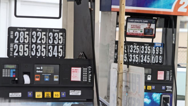 Gas prices in New Rochelle were as low as $2.85 a gallon Dec. 8.