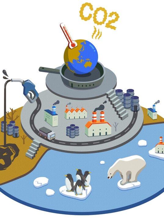 Globe Releasing Carbon Dioxide