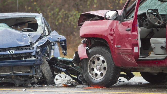 A woman was extricated from a vehicle and transported to the hospital following this accident on Old U.S. 23 north of Spencer Road in Brighton Township Wednesday afternoon.