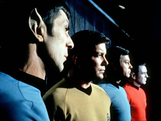 Cast from original TV series 'Star Trek, Leonard Nimoy