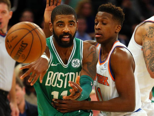 Kyrie Irving won a ring with LeBron James in Cleveland,