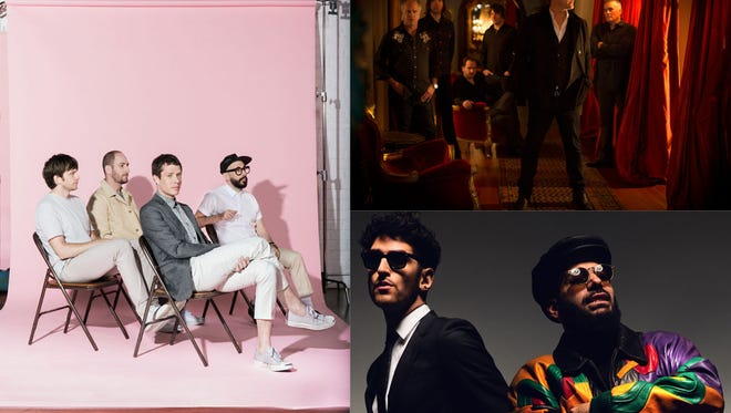 Clockwise, from left: OK Go, Afghan Whigs and Chromeo are the headliners for the 2014 MidPoint Music Festival.
