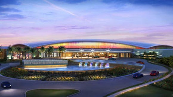 Artist's rendering of the casino that Arizona congress