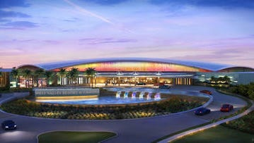 Artist rendering of Tohono O'odham casino in northwest Valley