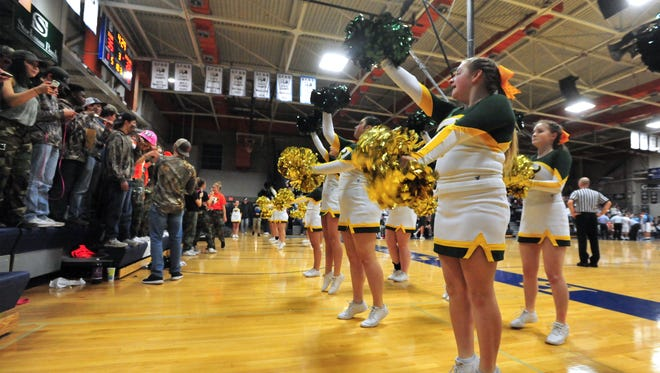 The Great Falls High boys host CMR during Tuesday night's crosstown basketball game in the Swarthout Fieldhouse.
